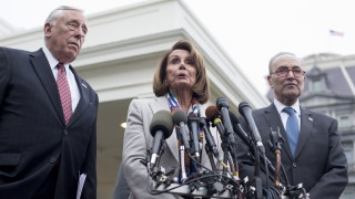 Без прогрес след срещата на Тръмп с лидерите от Конгреса