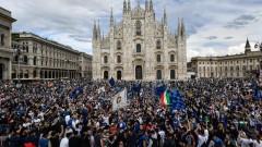 Празненствата за Интер започнаха, Ювентус първи поздрави шампиона