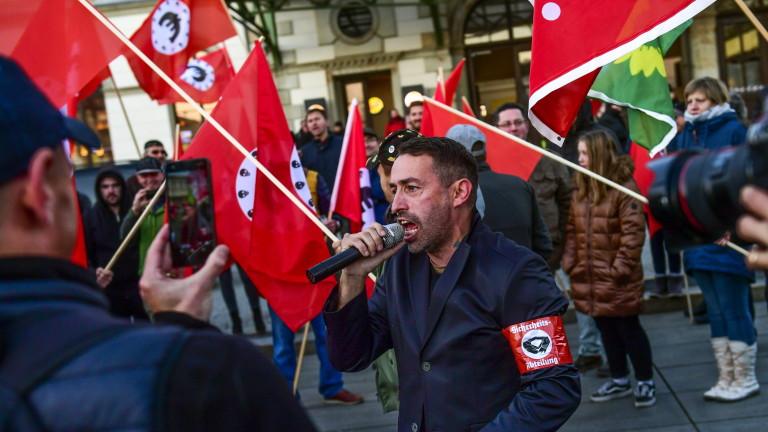 Стотици хора излязоха по улиците на Кемниц, за да протестират
