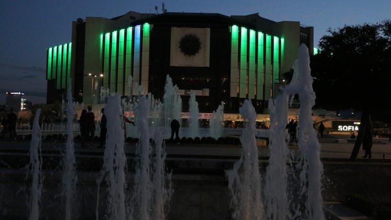 Осветиха НДК в зелено – знак на благодарност към донорите