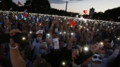 Съперничка на Лукашенко събра 60-хиляден митинг в Минск