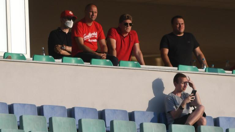 Стойчо Стоилов изгледа на живо победата на ЦСКА