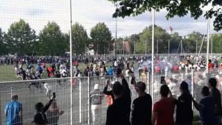 Публиката нахлу на терена на нелегален мач в Страсбург