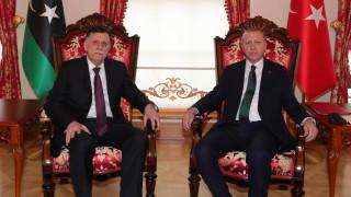 Ердоган прие в Истанбул ръководителя на либийското правителство Сарадж
