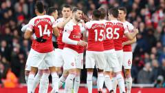 Дерби в Англия: Арсенал - Манчестър Юнайтед, 2:0 (Развой на срещата по минути)