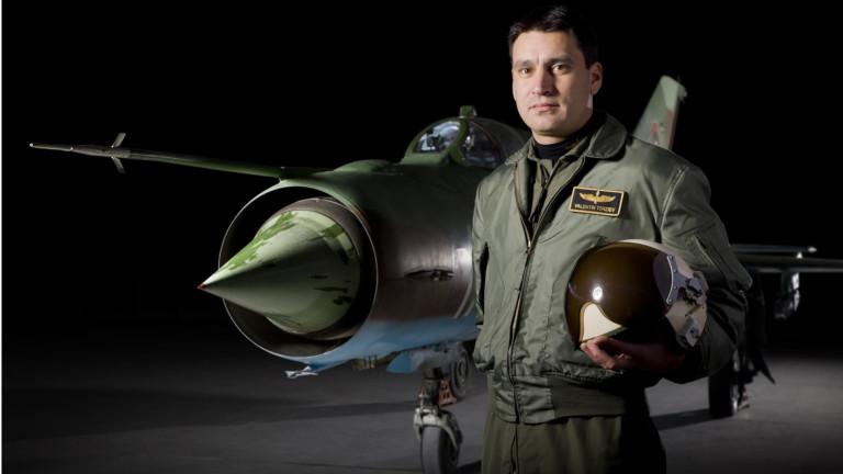 ИзтребителятМиГ-29,управляван отмайор Валентин Теpзиев, който падна в Черно море по