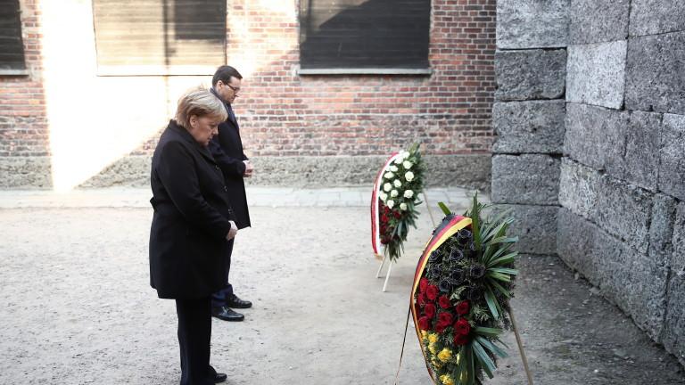 Германският канцлер Ангела Меркел посети за пръв път бившия нацистки