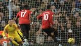 Манчестър Сити - Манчестър Юнайтед 0:2, попадение на Марсиал