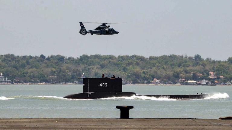 Все още няма следа от изчезналата подводница на Индонезия