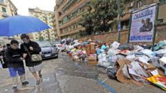 Армията бори боклучената криза в Неапол