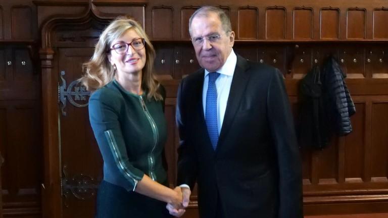 Визитата на външния министър Екатерина Захариева в Русия приключва днес,