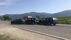 Трима ранени при верижна катастрофа край Казанлък