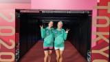 Габриела и Стефани Стоеви вече се подготвят в залата за бадминтон в Токио