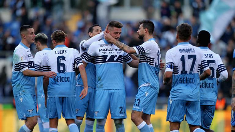 Лацио се класира за четвъртфиналите за Купата на Италия, след