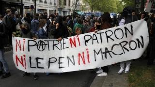"""""""Нито Макрон, нито Льо Пен"""", настояват протестиращи в Париж"""