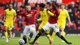 Манчестър Юнайтед се издъни срещу Фулъм