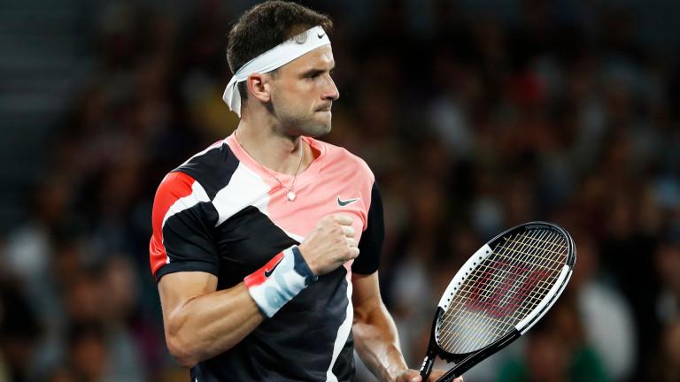 Най-добрият български тенисист Григор Димитров започна с очаквана победа участието