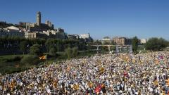 540 000 демонстранти в Барселона поискаха независимост от Испания