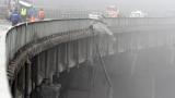 """ТИР и кола паднаха от виадукта на АМ """"Тракия"""" край Вакарел"""