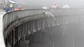 Пропадна ремонтирано преди година платно от виадукта до тунел Топли дол