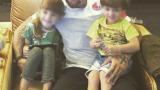 Благой Георгиев посрещна децата си в Русия