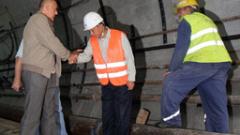 Премиерът приема машината, която ще копае метрото