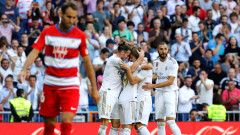 """Реал (Мадрид) не пуска първото място в Ла Лига, """"кралете"""" сътвориха голово шоу с Гранада"""