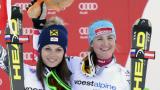 Австрийски триумф в женското спускане