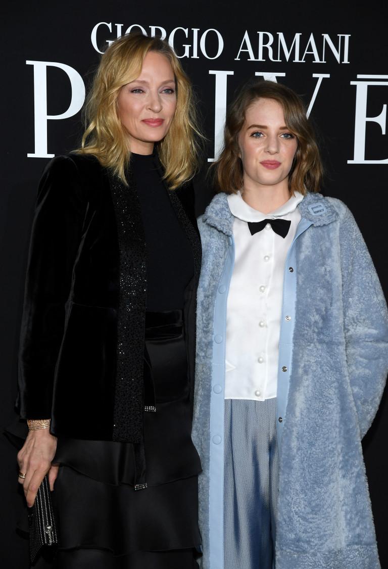 С майка си Ума Търман