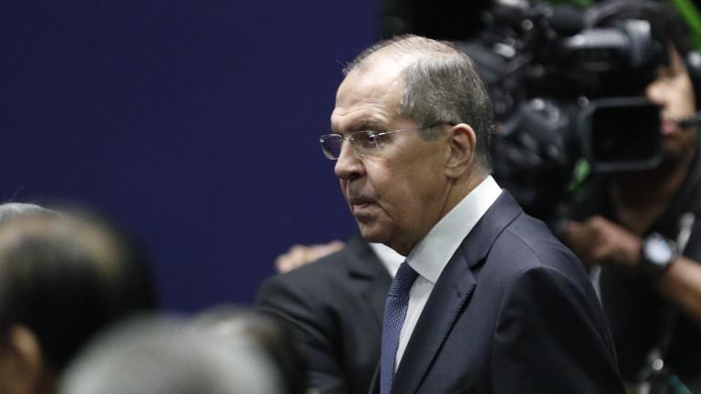 Министърът на външните работи на Русия Сергей Лавров заяви в