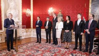 Първото правителство на Австрия със Зелените и с мнозинство жени положи клетва