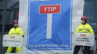 """""""ТТИП: търговско споразумение без изход"""", обявиха активисти в Брюксел"""