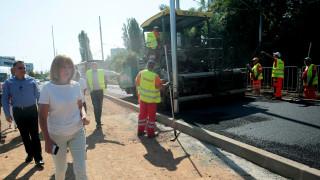 """Ремонтът на бул. """"Асен Йорданов"""" се движи в срок, увери Фандъкова"""