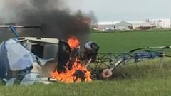 В Канада се разби хеликоптер