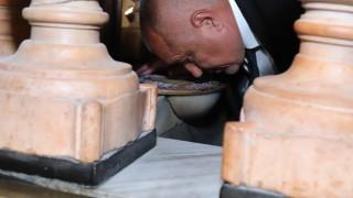 Бойко Борисов се преклони на Божи гроб