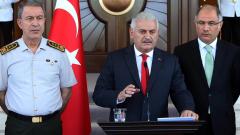 Показахме, че турският народ се бори за демокрация, обяви в реч премиерът Йълдъръм