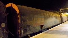 На Централна гара изгоряха 6 вагона, бракувани за скрап
