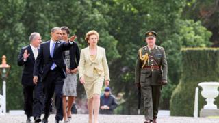 Обама при предците си в Ирландия