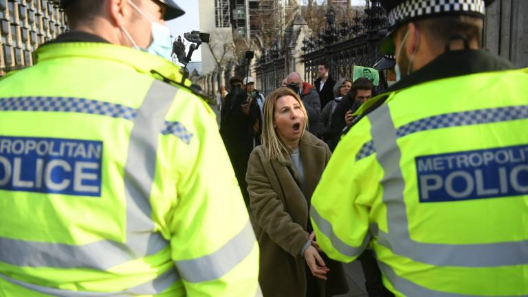 Над 150 задържани на протеста в Лондон