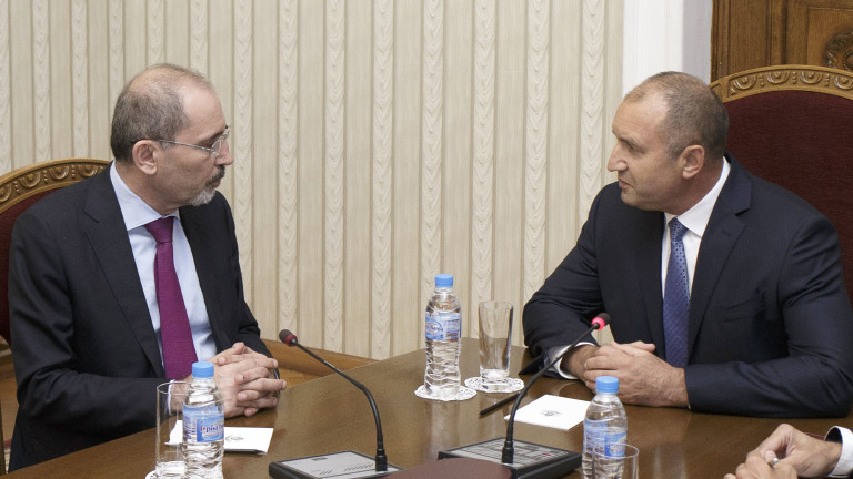 Президентът Румен Радев и министъра на външните работи на Хашемитското