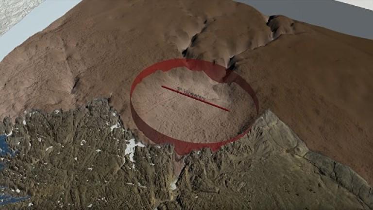 Откриха голям ударен кратер под ледената покривка на Гренландия