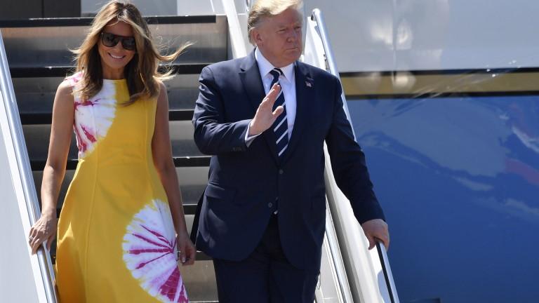 Тръмп долетя с личния си самолет във Франция за срещата на Г-7