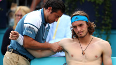 """Федерер помогнал на Стефанос Циципас да преодолее трудния момент след провала на """"Уимбълдън"""""""