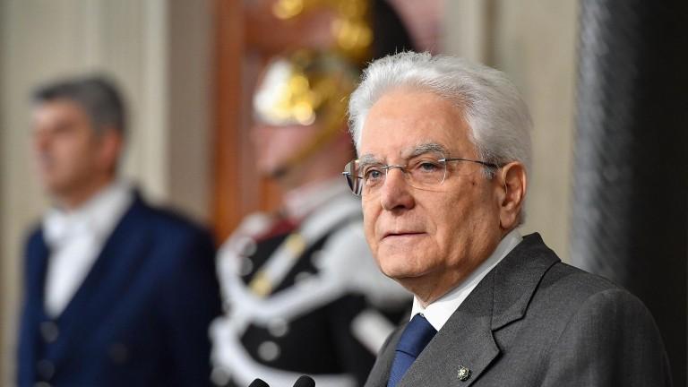 Президентът на Италия Серджо Матарела поиска от председателя на Сената