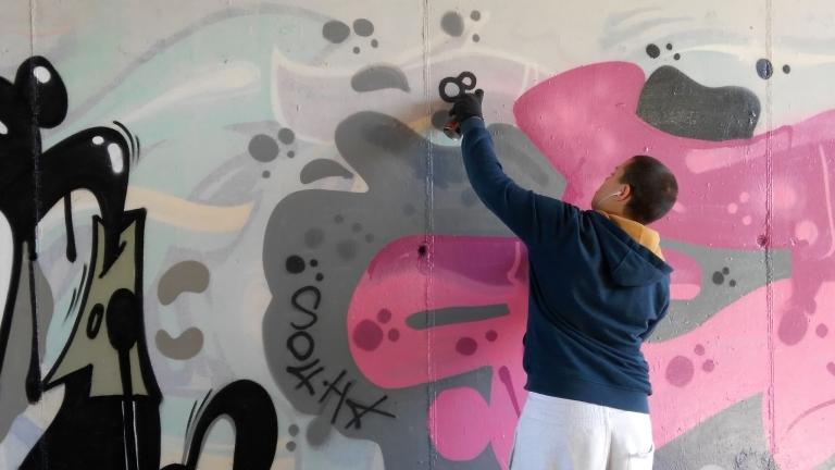 Наш тийнейджър се нареди до асовете сред графити артистите