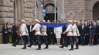 Тържествено издигнаха знамето на Европа пред президентството
