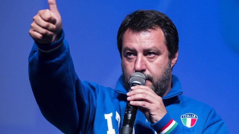 """""""Лига"""" на Салвини води в Италия, но губи подкрепа преди евровота"""