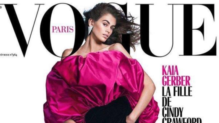 Кая Гербер с първа корица на Vogue