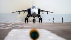 Руски Су-24 се е разбил при излитане на писта в Сирия