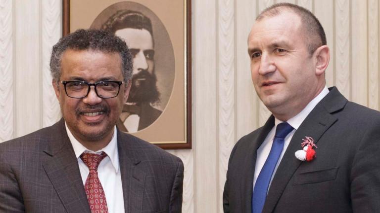Здравеопазването и сътрудничеството обсъдиха Радев и Гебрейесус